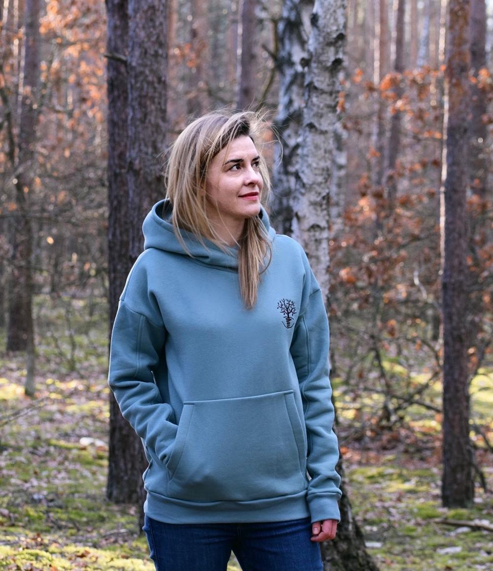 bluza damska błękit