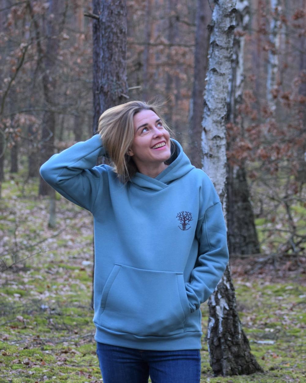 damska bluza niebieska